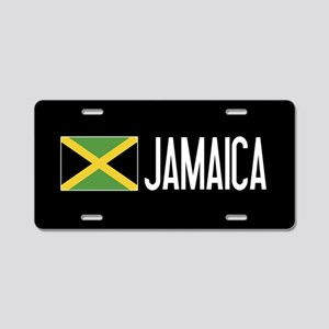Jamaica: Jamaican Flag & Ja Aluminum License Plate