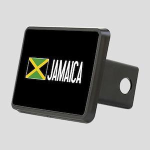 Jamaica: Jamaican Flag & J Rectangular Hitch Cover