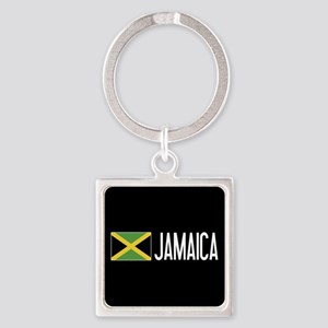 Jamaica: Jamaican Flag & Jamaica Square Keychain