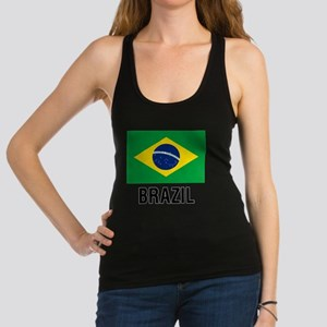Flag of Brazil with Text Racerback Tank Top