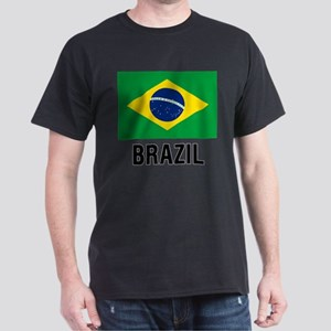 Flag of Brazil with Text T-Shirt