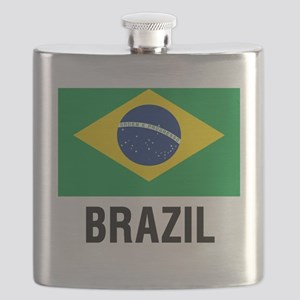 Flag of Brazil with Text Flask