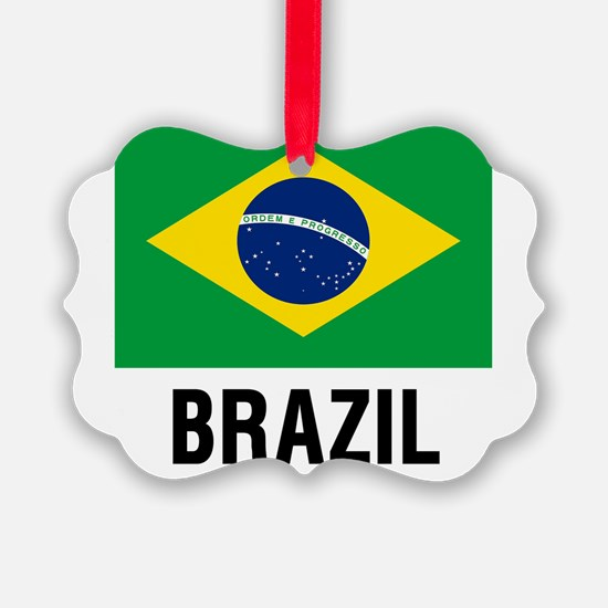 Flag of Brazil with Text Ornament
