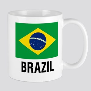 Flag of Brazil with Text Mugs