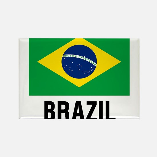 Flag of Brazil with Text Magnets