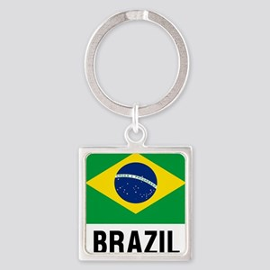 Flag of Brazil with Text Keychains