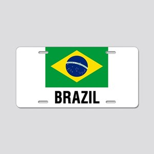 Flag of Brazil with Text Aluminum License Plate