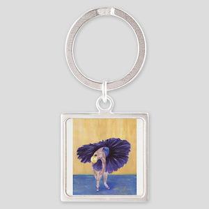 Purple Ballerina Keychains