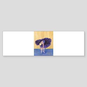 Purple Ballerina Bumper Sticker