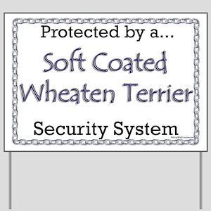 Wheaten Security Yard Sign