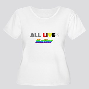 All Lives Mat Women's Plus Size Scoop Neck T-Shirt
