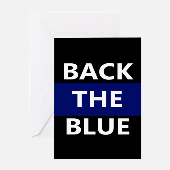 BACK THE BLUE Greeting Cards