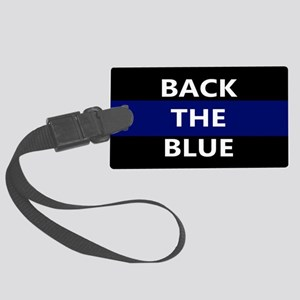 BACK THE BLUE Large Luggage Tag