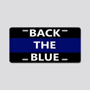 BACK THE BLUE Aluminum License Plate