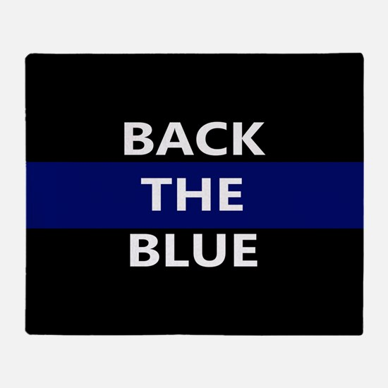 BACK THE BLUE Throw Blanket