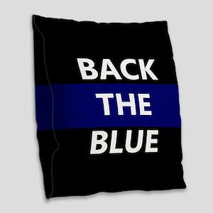 BACK THE BLUE Burlap Throw Pillow