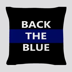 BACK THE BLUE Woven Throw Pillow