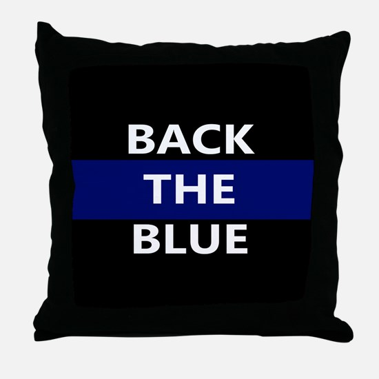 BACK THE BLUE Throw Pillow