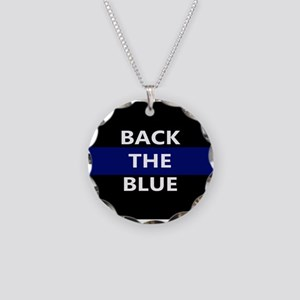 BACK THE BLUE Necklace Circle Charm