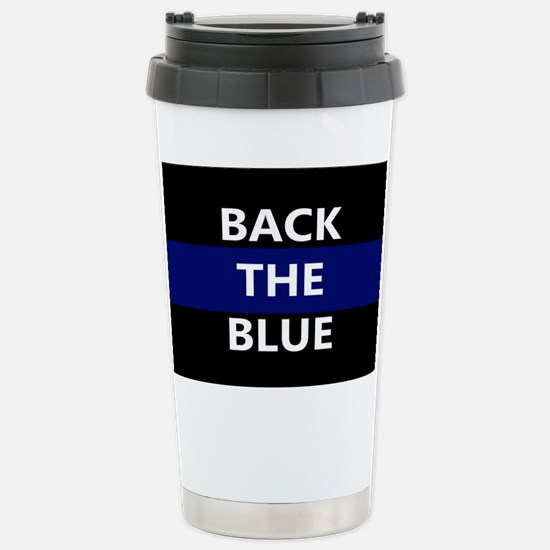 BACK THE BLUE Stainless Steel Travel Mug