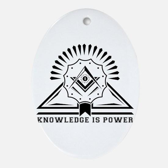 Knowledge is powers-Modern Geometric Oval Ornament