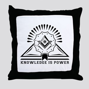 Knowledge is powers-Modern Geometric Throw Pillow