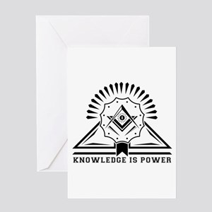 Knowledge is powers-Modern Geometri Greeting Cards