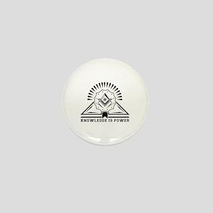 Knowledge is powers-Modern Geometric D Mini Button