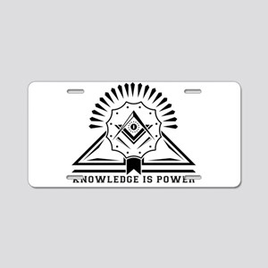 Knowledge is powers-Modern Aluminum License Plate