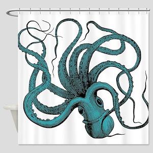 Vintage Octopus Shower Curtain