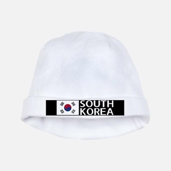 South Korea: South Korean Flag & South Ko baby hat