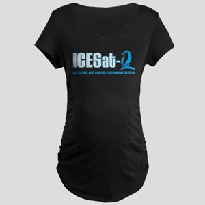 ICESat-2 Logo Maternity Dark T-Shirt