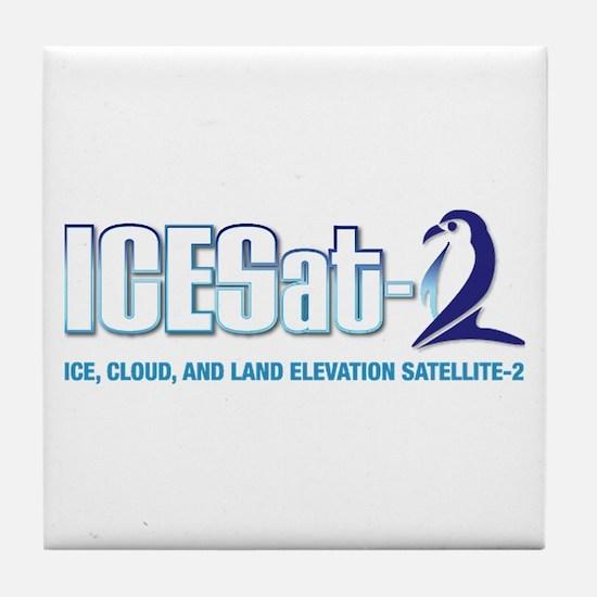 ICESat-2 Logo Tile Coaster