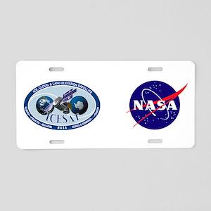 ICESat Program Logo Aluminum License Plate