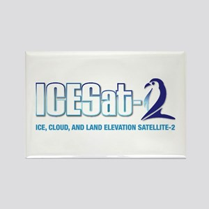 ICESat-2 Logo Rectangle Magnet