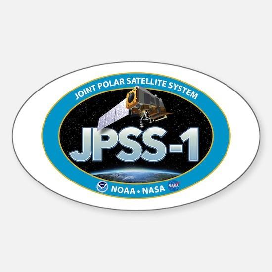 JPSS-1 Logo Sticker (Oval)