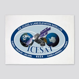 ICESat Program Logo 5'x7'Area Rug