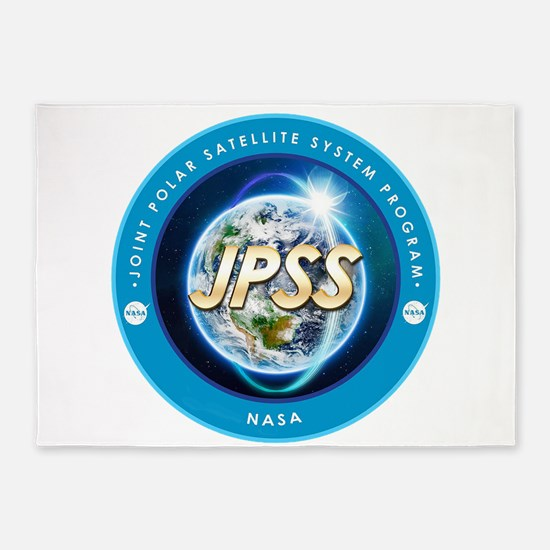 JPSS Program Logo 5'x7'Area Rug