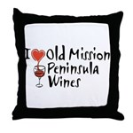 Old Mission Wines Throw Pillow