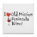 Old Mission Wines Tile Coaster