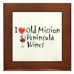 Old Mission Wines Framed Tile