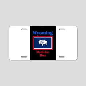 Medicine Bow Wyoming Aluminum License Plate
