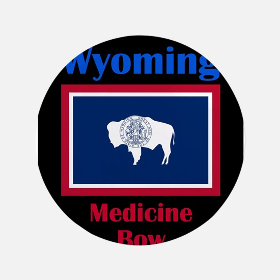 """Medicine Bow Wyoming 3.5"""" Button"""
