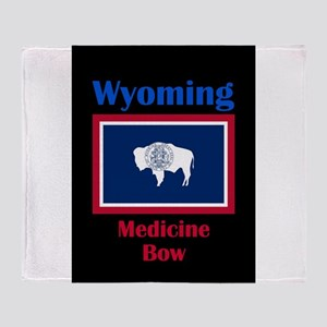 Medicine Bow Wyoming Throw Blanket