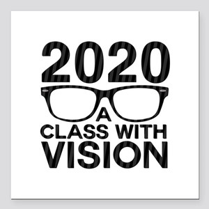 """2020 Class with Vision Square Car Magnet 3"""" x 3"""""""