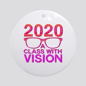 2020 Class with Vision Round Ornament