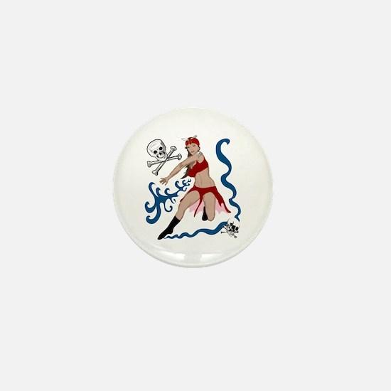 Pirate Pin-Up Mini Button