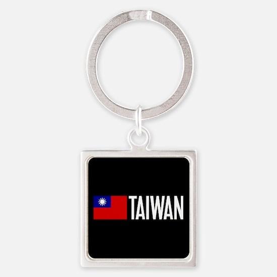 Taiwan: Taiwanese Flag & Taiwan Square Keychain
