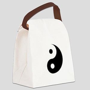 Minimalist Yin Yang Symbol Canvas Lunch Bag