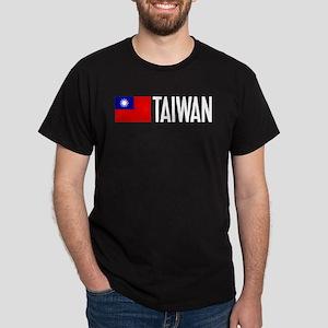 Taiwan: Taiwanese Flag & Taiwan Dark T-Shirt